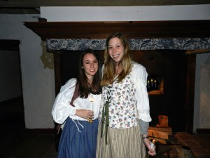 Jessica Breitman and her friend Brie at Haunted